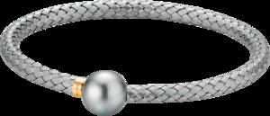 Armreif Gellner Wired XL aus 925 Sterlingsilber und 750 Roségold mit Tahiti-Perle Größe L