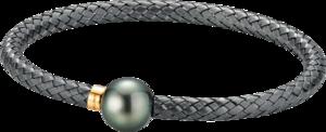 Armreif Gellner Wired XL aus 925 Sterlingsilber und 750 Roségold mit Tahiti-Perle Größe XL