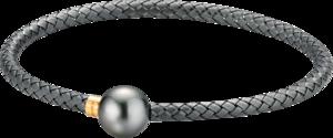 Armreif Gellner Wired XL aus 925 Sterlingsilber und 750 Roségold mit Tahiti-Perle Größe M