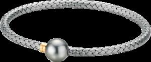 Armreif Gellner Wired XL aus 925 Sterlingsilber und 750 Roségold mit Tahiti-Perle