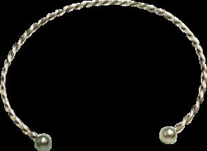 Halsreif Gellner Wired XL aus 925 Sterlingsilber mit 2 Tahiti-Perlen