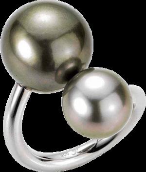 Ring Gellner Wired XL aus 925 Sterlingsilber mit 2 Tahiti-Perlen