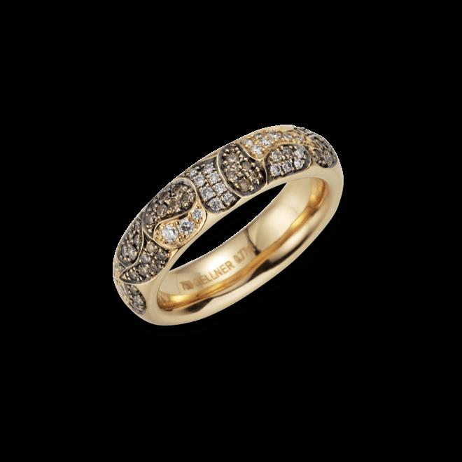 Ring Gellner Zensation aus 750 Roségold mit 90 Brillanten (0,773 Karat)