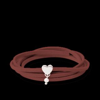 girlsloovepearls Armband und Halsband Oktober Dunkelbraun GLP0003