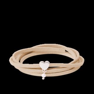 girlsloovepearls Armband und Halsband Oktober Hellbraun GLP0001