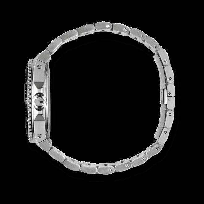 Herrenuhr Gucci Dive Quartz large mit schwarzem Zifferblatt und Edelstahlarmband