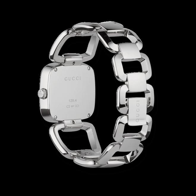 Damenuhr Gucci G-Gucci medium mit braunem Zifferblatt und Edelstahlarmband