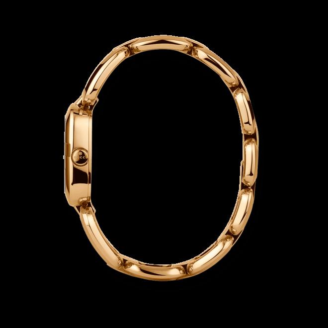 Damenuhr Gucci G-Gucci small mit braunem Zifferblatt und Edelstahlarmband