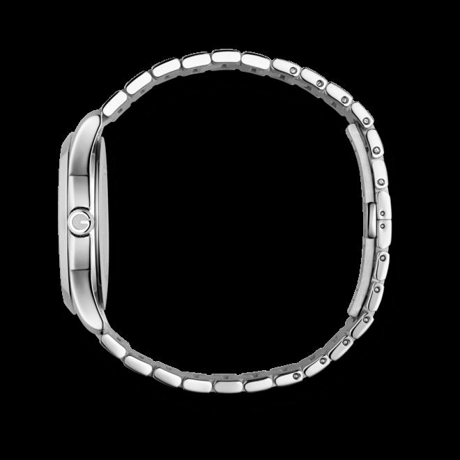 Herrenuhr Gucci G-timeless medium mit anthrazitfarbenem Zifferblatt und Edelstahlarmband