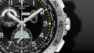 Hamilton Khaki Worldtimer Quarz Chrono 45mm
