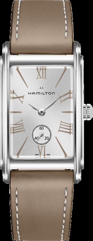 Herrenuhr Hamilton Ardmore L Quarz mit silberfarbenem Zifferblatt und Kalbsleder-Armband