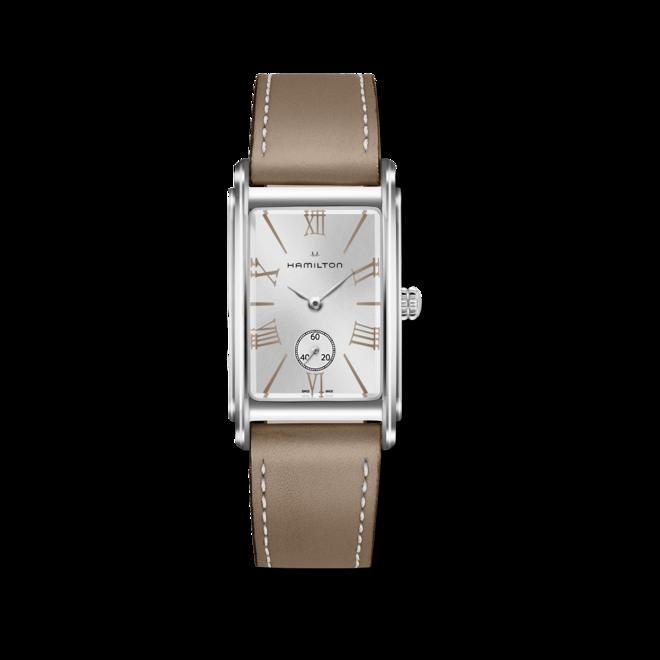 Herrenuhr Hamilton Ardmore L Quarz mit silberfarbenem Zifferblatt und Kalbsleder-Armband bei Brogle
