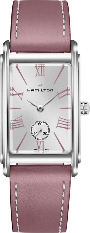 Armbanduhr Hamilton Ardmore L Quarz mit silberfarbenem Zifferblatt und Kalbsleder-Armband
