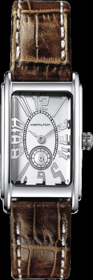 Herrenuhr Hamilton Ardmore S Quarz mit silberfarbenem Zifferblatt und Armband aus Kalbsleder mit Krokodilprägung