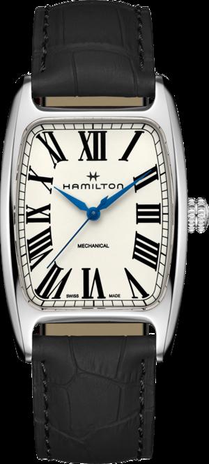 Herrenuhr Hamilton Boulton Mechanical mit beigefarbenem Zifferblatt und Rindsleder-Armband