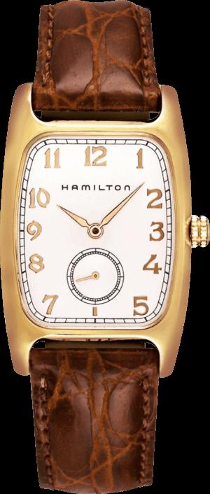 Herrenuhr Hamilton Boulton Quarz mit weißem Zifferblatt und Kalbsleder-Armband