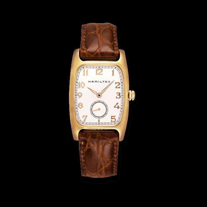 Herrenuhr Hamilton Boulton Quarz mit weißem Zifferblatt und Kalbsleder-Armband bei Brogle