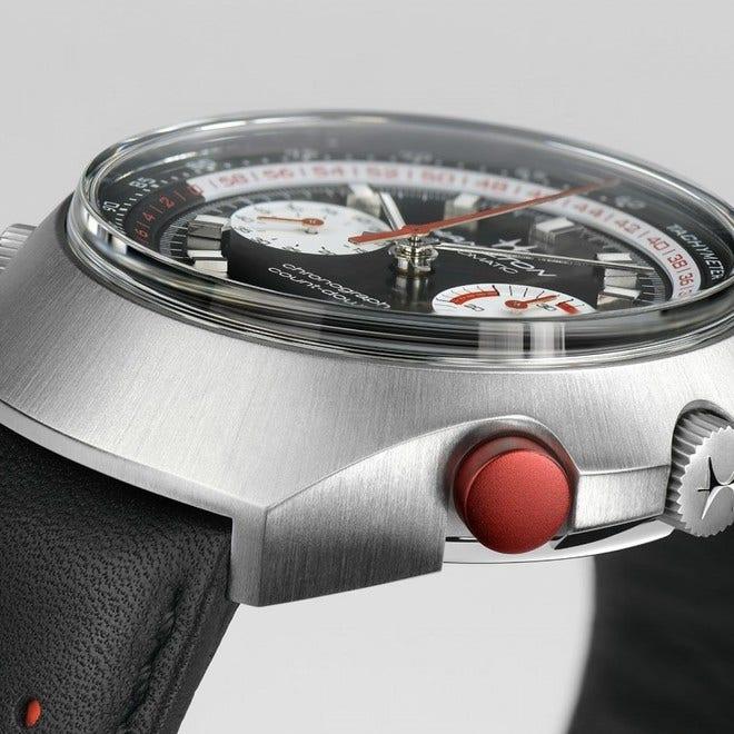 Herrenuhr Hamilton Chrono-Matic 50 Auto Chrono mit zweifarbigem Zifferblatt und Kalbsleder-Armband bei Brogle