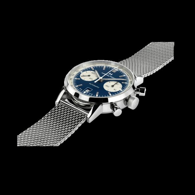 Herrenuhr Hamilton Intra-Matic Auto Chrono 40mm mit blauem Zifferblatt und Edelstahlarmband bei Brogle