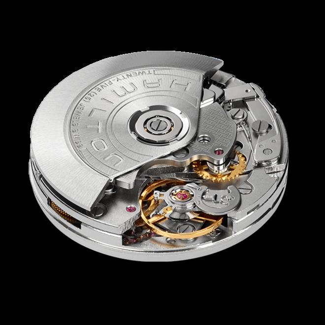Herrenuhr Hamilton Broadway Automatik Chronograph 43mm mit blauem Zifferblatt und Kalbsleder-Armband bei Brogle