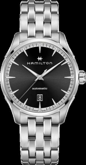 Herrenuhr Hamilton Jazzmaster Auto 40mm mit schwarzem Zifferblatt und Edelstahlarmband