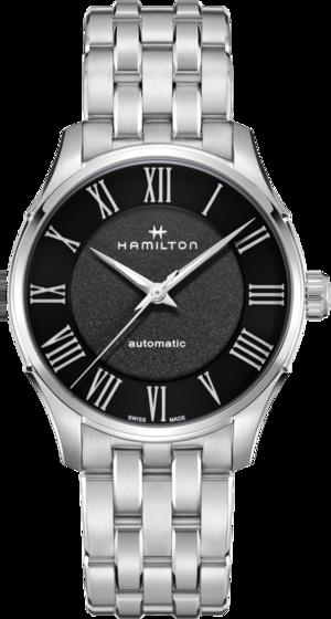 Herrenuhr Hamilton Jazzmaster Automatik 40mm mit schwarzem Zifferblatt und Edelstahlarmband