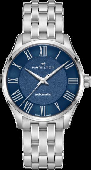 Herrenuhr Hamilton Jazzmaster Automatik 40mm mit blauem Zifferblatt und Edelstahlarmband