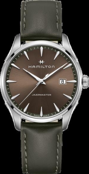 Herrenuhr Hamilton Jazzmaster Gent Quartz 40mm mit braunem Zifferblatt und Kalbsleder-Armband