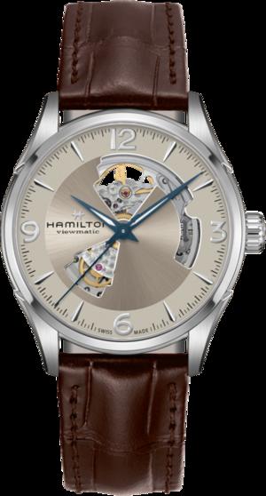 Herrenuhr Hamilton Open Heart mit beigefarbenem Zifferblatt und Kalbsleder-Armband