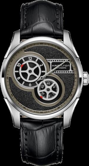 Herrenuhr Hamilton Regulator Cinema mit grauem Zifferblatt und Rindsleder-Armband