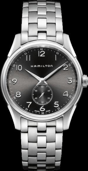 Armbanduhr Hamilton Jazzmaster Thinline Small Second Quarz 40mm mit schwarzem Zifferblatt und Edelstahlarmband
