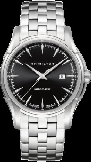 Herrenuhr Hamilton Jazzmaster Viewmatic Auto 44mm mit schwarzem Zifferblatt und Edelstahlarmband