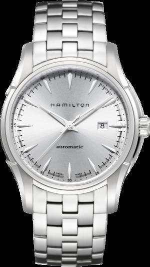 Herrenuhr Hamilton Jazzmaster Viewmatic Auto 44mm mit silberfarbenem Zifferblatt und Edelstahlarmband