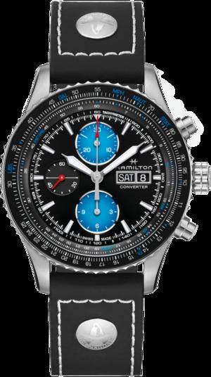 Herrenuhr Hamilton Khaki Aviation Converter Air Zermatt Limited Edition mit schwarzem Zifferblatt und Kalbsleder-Armband