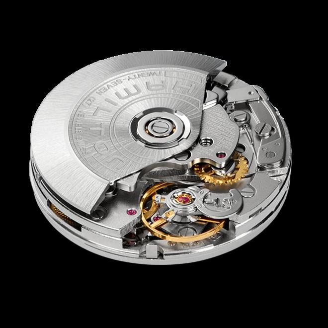 Herrenuhr Hamilton Khaki Takeoff Auto Chrono 46mm mit schwarzem Zifferblatt und Kalbsleder-Armband bei Brogle