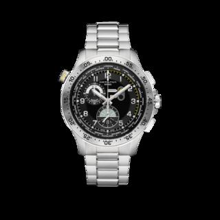Hamilton Herrenuhr Khaki Worldtimer Quarz Chrono 45mm H76714135