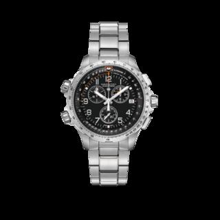 Hamilton Herrenuhr Khaki X-Wind GMT Quarz Chrono 46mm H77912135