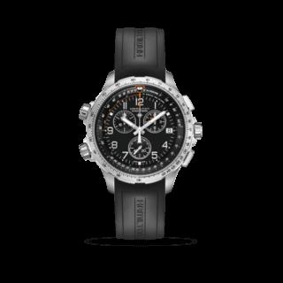 Hamilton Herrenuhr Khaki X-Wind GMT Quarz Chrono 46mm H77912335