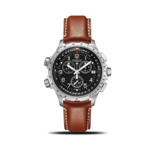 Hamilton Herrenuhr Khaki X-Wind GMT Quarz Chrono 46mm H77912535