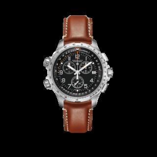 Hamilton Herrenuhr Khaki X-Wind GMT Quarz Chrono 46mm H77912535