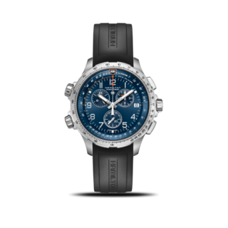 Hamilton Herrenuhr Khaki X-Wind GMT Quarz Chrono 46mm H77922341