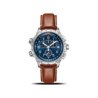Hamilton Herrenuhr Khaki X-Wind GMT Quarz Chrono 46mm H77922541