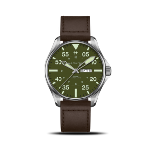 Hamilton Herrenuhr Khaki Aviation Pilot Schott NYC Automatik H64735561
