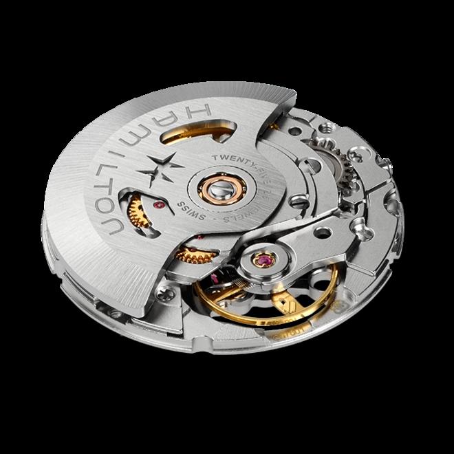Armbanduhr Hamilton Khaki Field Automatik 38mm mit schwarzem Zifferblatt und Edelstahlarmband bei Brogle