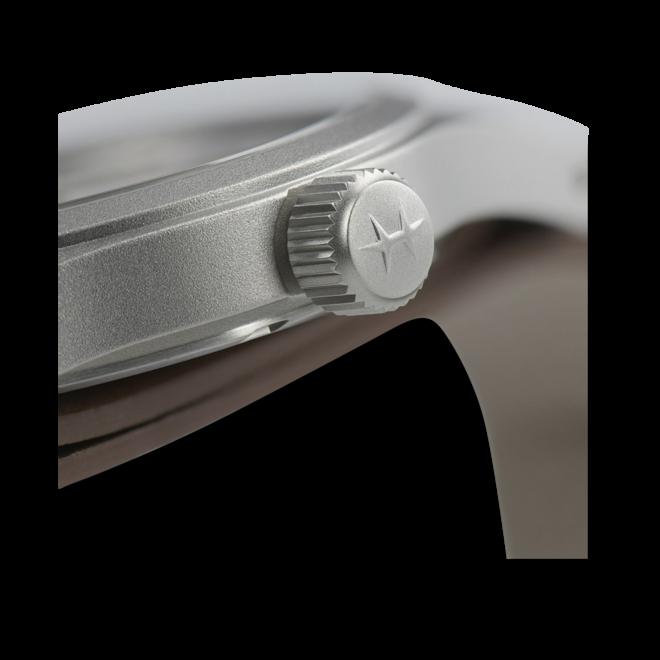 Herrenuhr Hamilton Khaki Field Mechanical mit weißem Zifferblatt und Rindsleder-Armband bei Brogle