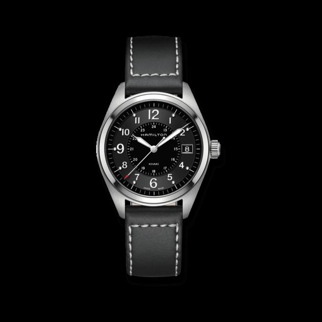 Herrenuhr Hamilton Khaki Field Quarz 40mm mit schwarzem Zifferblatt und Kalbsleder-Armband bei Brogle