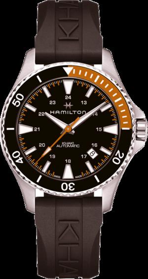 Herrenuhr Hamilton Khaki Navy Scuba Automatik 40mm mit schwarzem Zifferblatt und Kautschukarmband