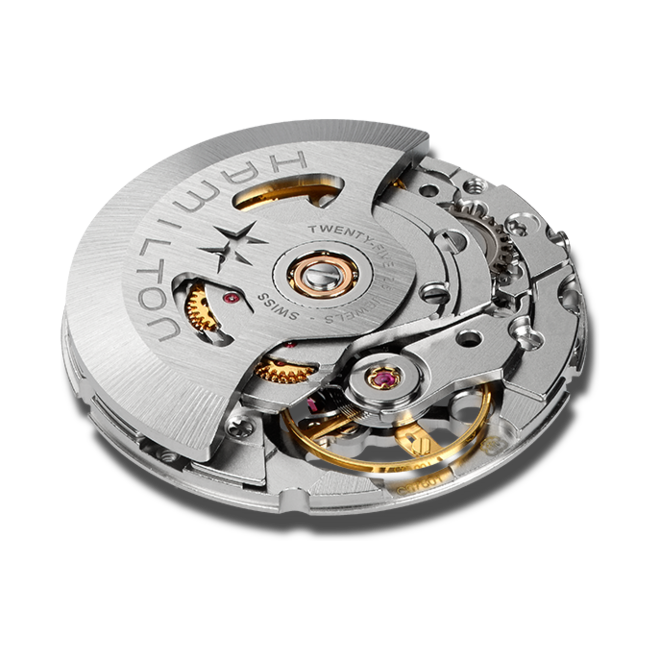 Herrenuhr Hamilton Khaki Navy Scuba Automatik 40mm mit schwarzem Zifferblatt und Textilarmband bei Brogle