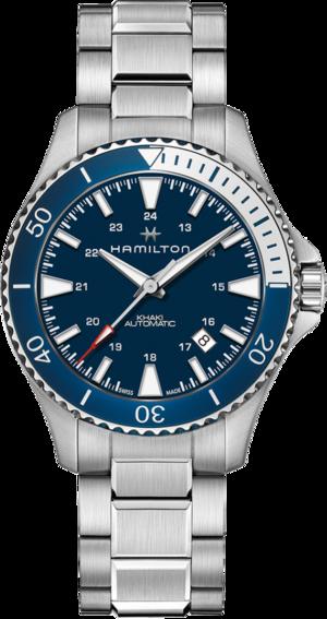 Herrenuhr Hamilton Khaki Navy Scuba Automatik 40mm mit blauem Zifferblatt und Edelstahlarmband