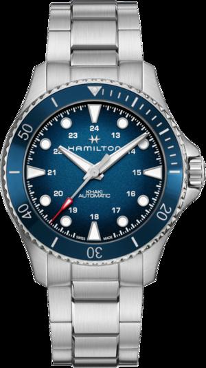 Herrenuhr Hamilton Khaki Navy Scuba Automatik 43mm mit blauem Zifferblatt und Edelstahlarmband